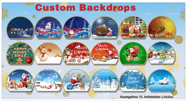 Inflatable Show Ball Christmas Backdrops