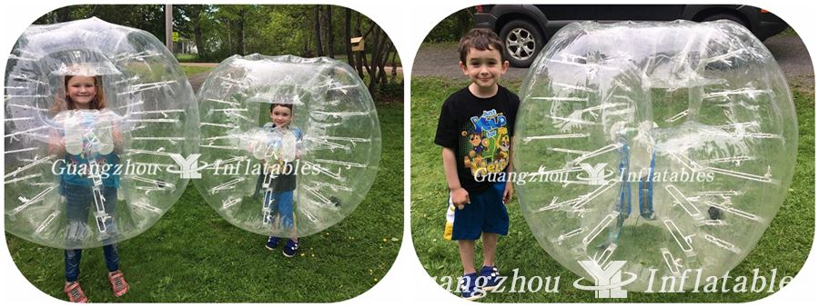 inflatable bubble soccer with window
