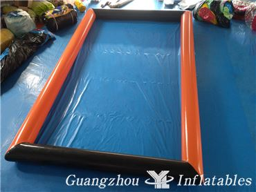 Inflatable Black and Orange Inflatable Water Ball Games Pool