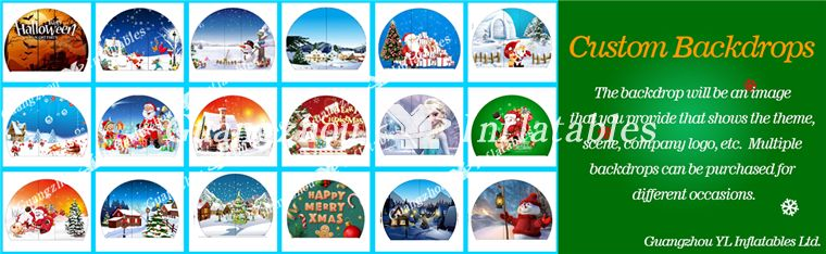 inflatable snow globes backdrops