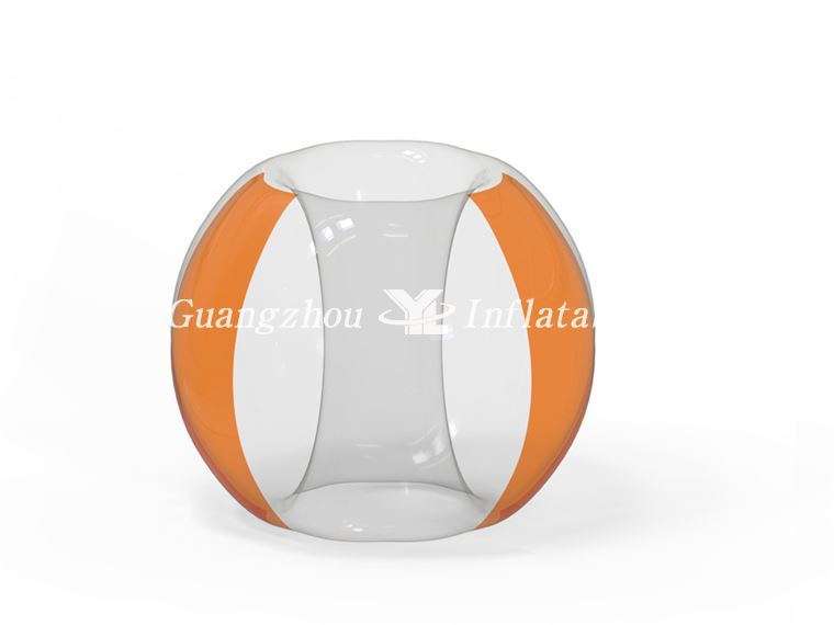 Two Side Orange inflatable Bumper Soccer Ball  for hot sale
