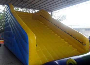 Yellow Inflatable Zorb Ball Ramp