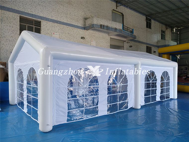 white inflatable tent for event