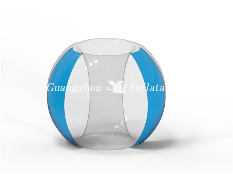 Two Side Blue Bumper Soccer Ball factory price bumper ball