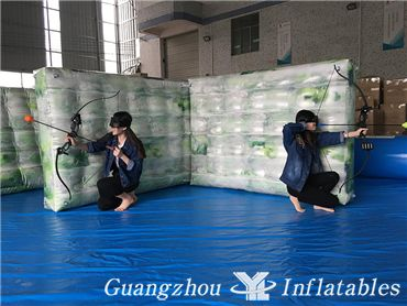 Camouflage paintball for Archery Game, Inflatable Paintball Bunker Field