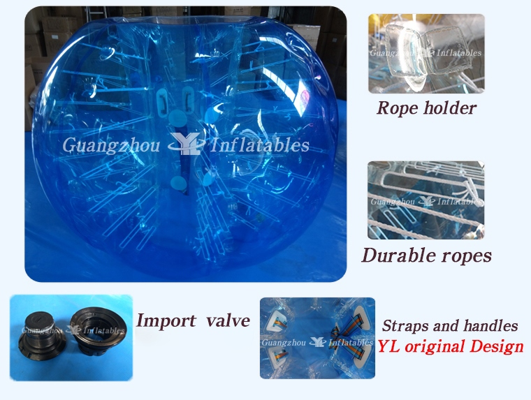 Full-Color TPU Bubble Soccer BubbleBallz Body Zorbing