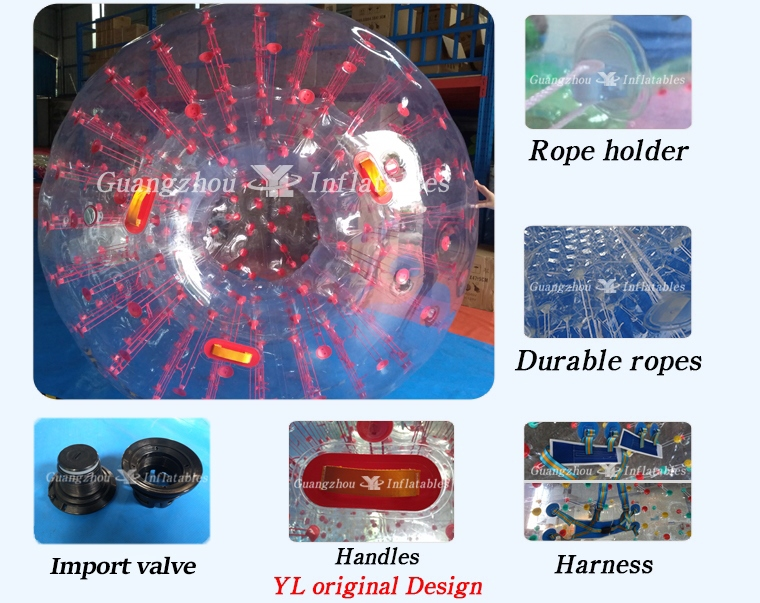 Inflatable Color Dots Zorb ball Factory Price