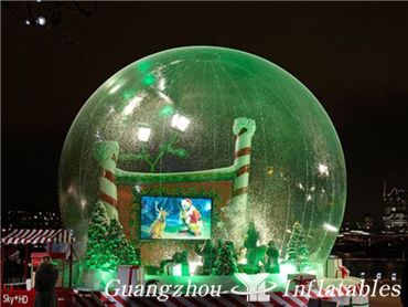 giant snow globes