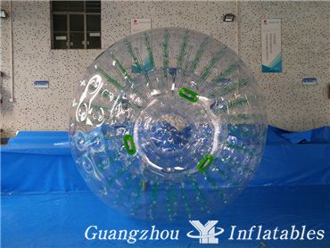 Inflatable Human Hamster Glass Roller Zorb Ball for Ramp Zorbing