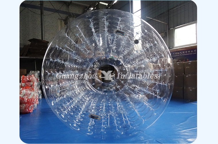 Inflatable Transparent Water Walking Roller Funny Beach Ball