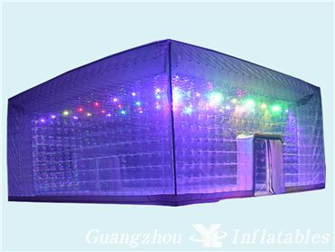 Led Lighting Transparent Inflatable Bubble Tent, Outdoor Camping Tent, Bubble House