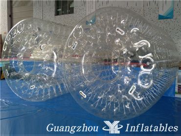Clear Inflatable Water Roller, Water Rolling Ball With Colorful Dots