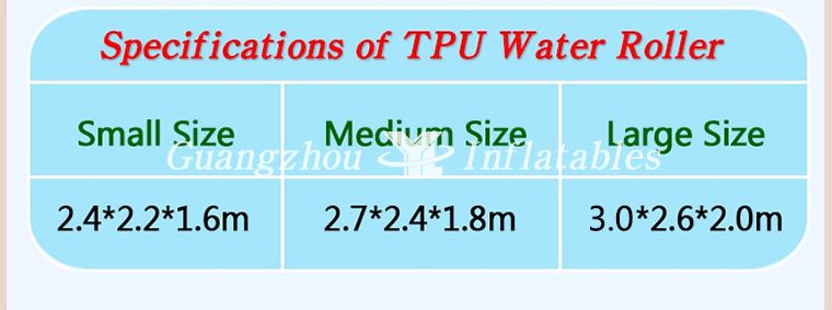 TPU Water Roller, Water Roller Ball, Water Walk The Ball Chinese