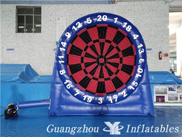 Double Side Inflatable Foot Darts Game, Customized Velcro Soccer Dart