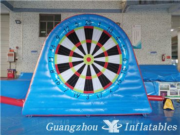 Inflatable Foot Dart Game, Velcro Soccer Darts Game for Event