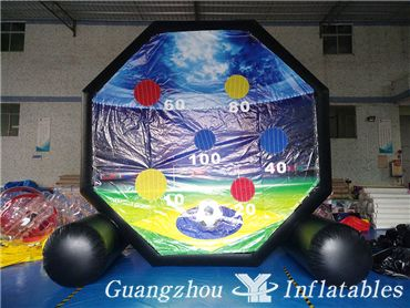 Inflatable Double-Sided Foot Dart Games, Soccer Dart Boards for Community Games